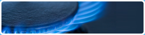 gas cooker installation - gas flame